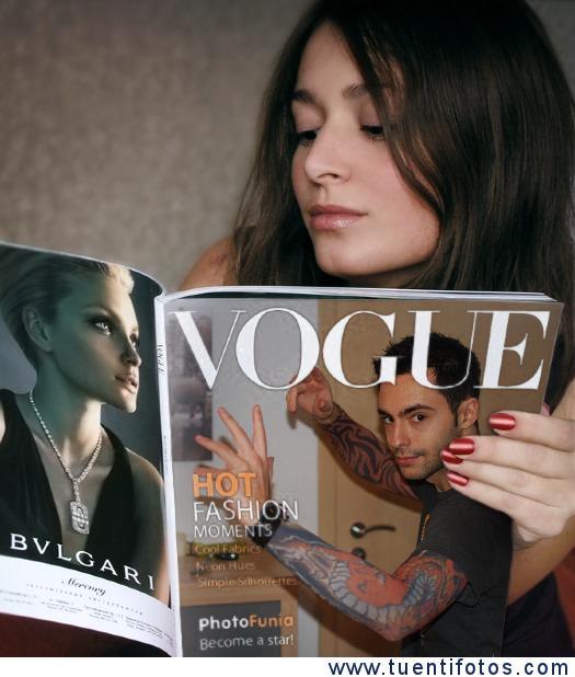 Efecto de Chica Leyendo Vogue