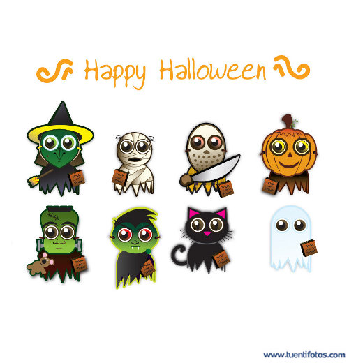 Dibujos de Amigos En Happy halloween
