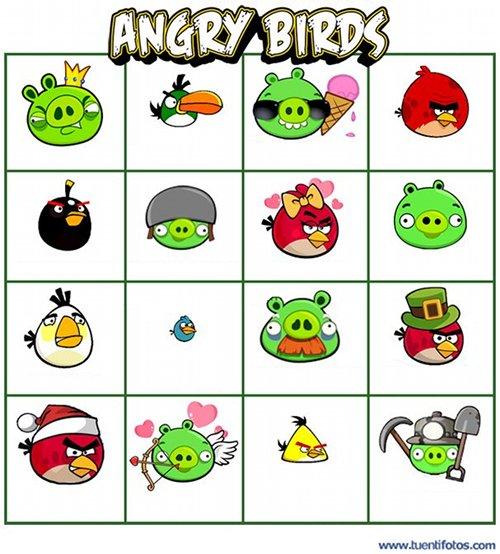 Dibujos de Angry Birds