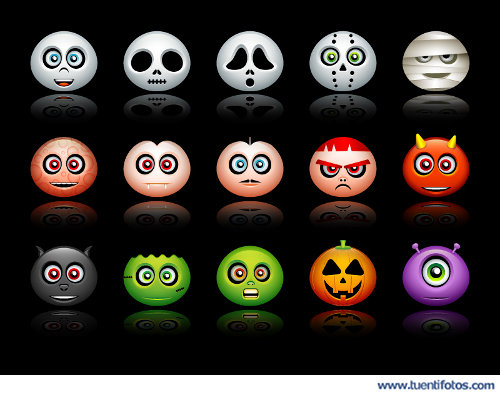 Dibujos de Caras De Halloween