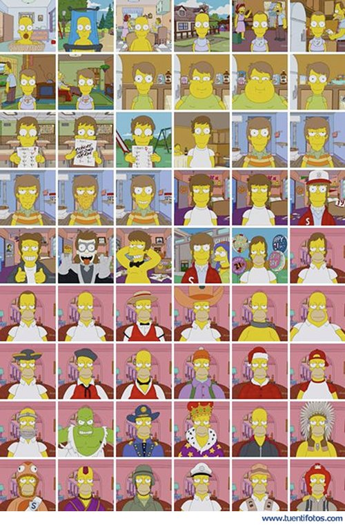 Series de Caras de Homer Simpson