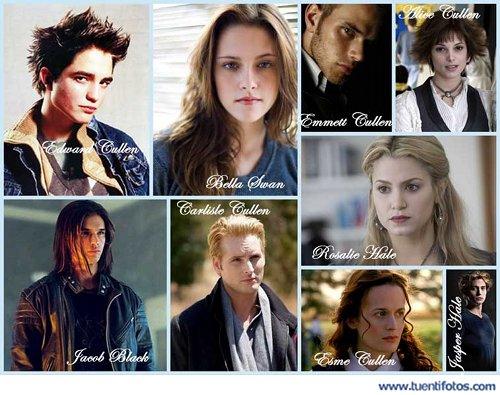 Series de Personajes De Twilight