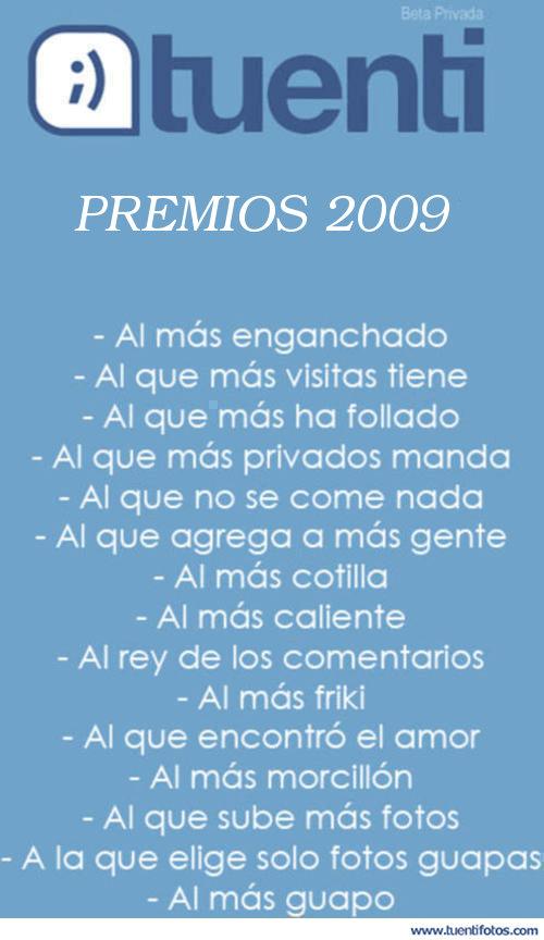 Textos de Premios Tuenti 2009