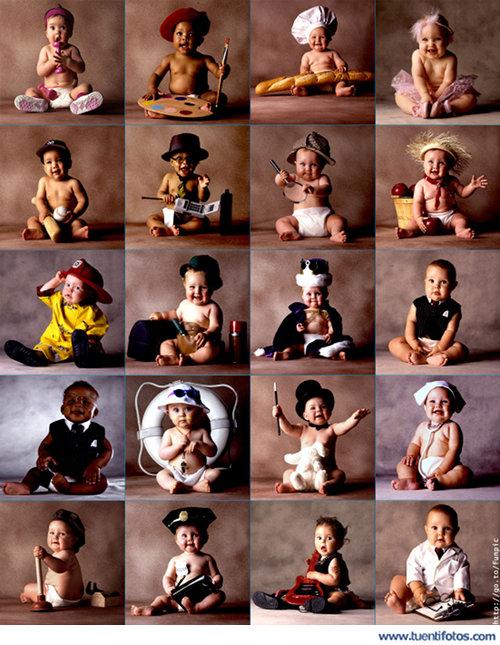 Personas de Profesionales Bebes