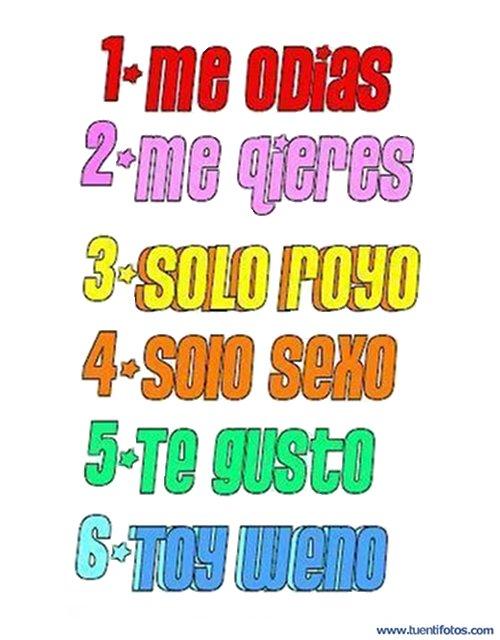 Textos de Seis Opciones