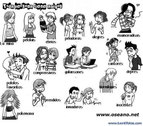 Dibujos de Toda Persona Tiene 16 Amigos