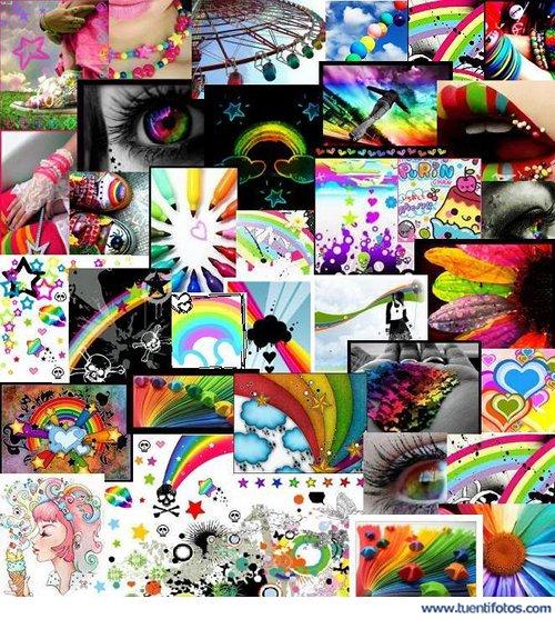 Objetos de Vida Llena De Colores