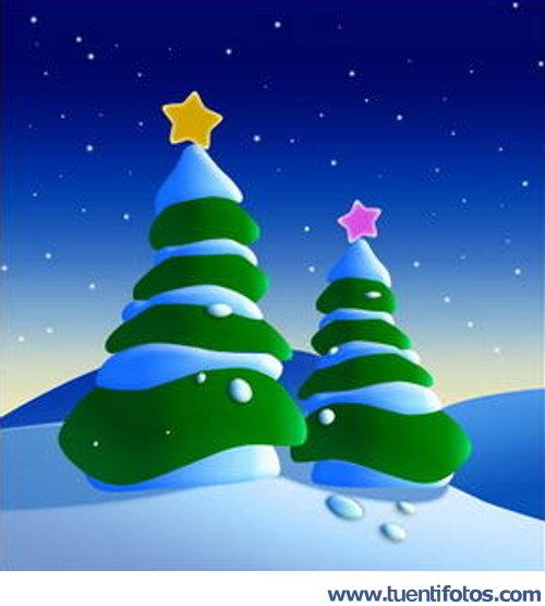 navidad de arboles nevados en navidad