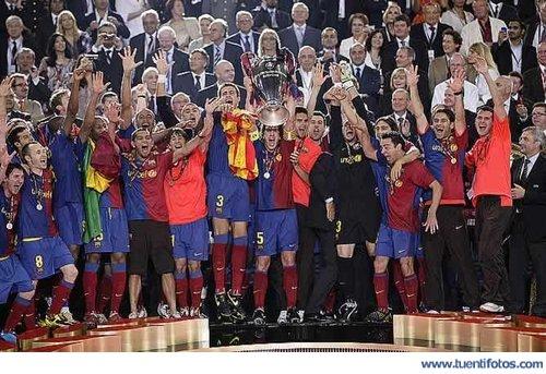 Eventos de Barsa Levantando La Copa De Europa