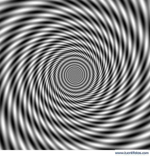 Ilusiones de Espiral Blanco Y Negro