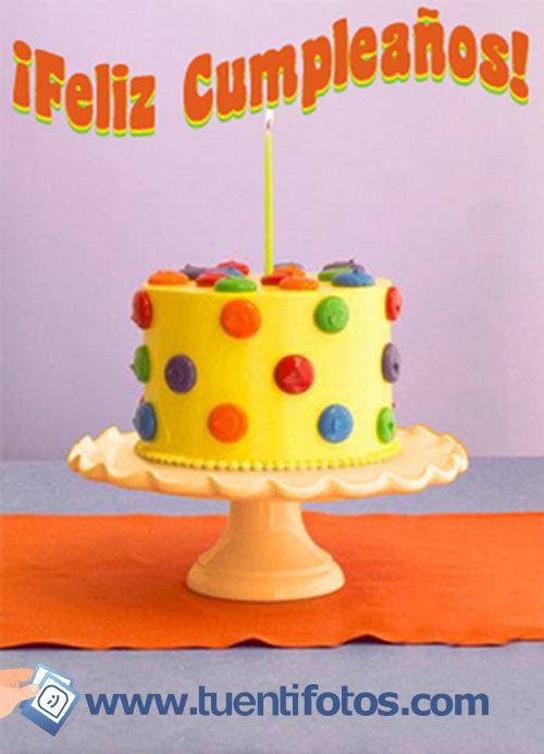 Cumpleaños de Felicidades Tarta Amarilla