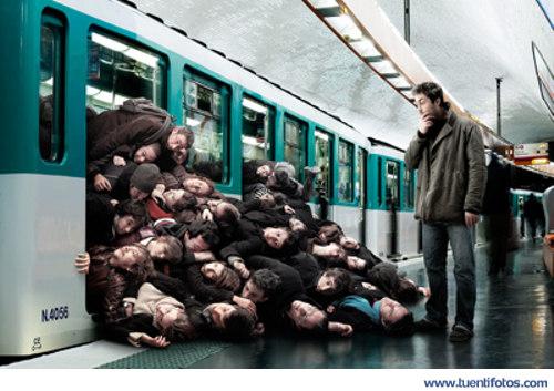 Increibles de Muy Apretados en el Metro