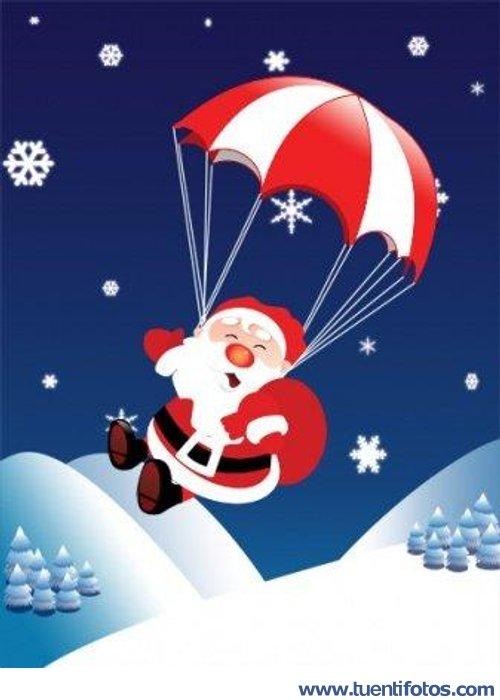 Navidad de Papa Noel Paracaidista