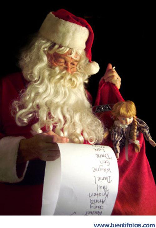 Navidad de Papa Noel Revisando La Lista