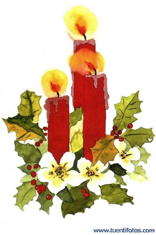 Navidad de Velas de Navidad pintadas
