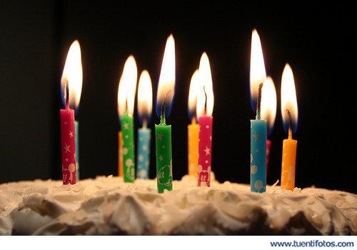 Cumpleaños de Velas de Cerca