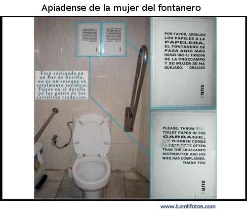 Señales de Apiadense De La MUjer Del Fontanero