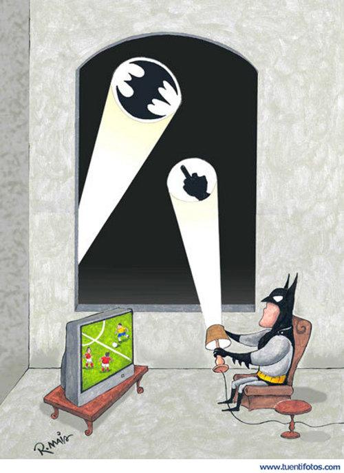 Chistes de Batman Viendo El Futbol