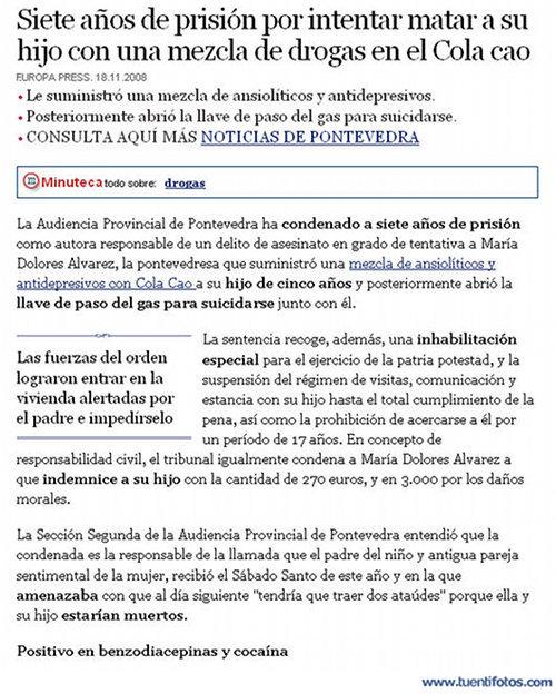 Textos de Drogas En El Colacao