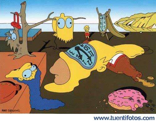 Dibujos de El Dali De Los Simpson