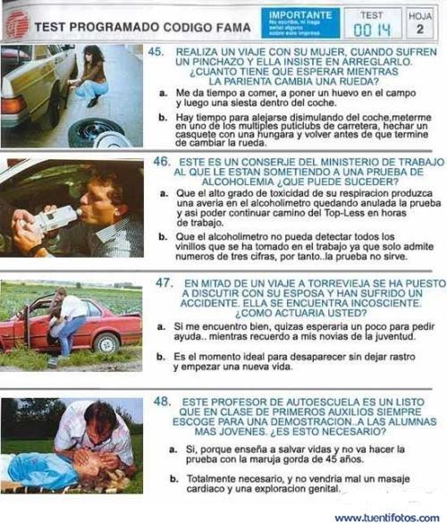 Textos de Examen de Conducir 2