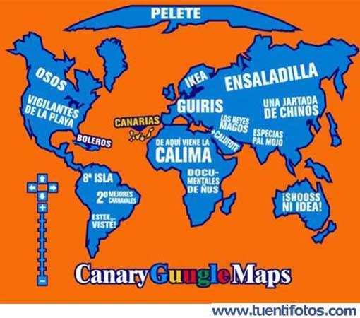 Chistes de Google Maps Canario