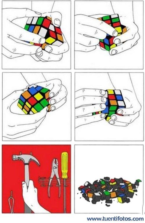 Chistes de Instrucciones Del Cubo De Rubik