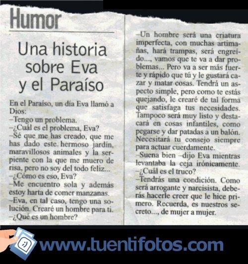 Textos de La Historia De Eva En El Paraíso