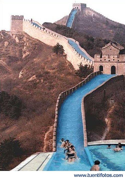 Bromas de Los Chinos Aprovechan Su Muralla