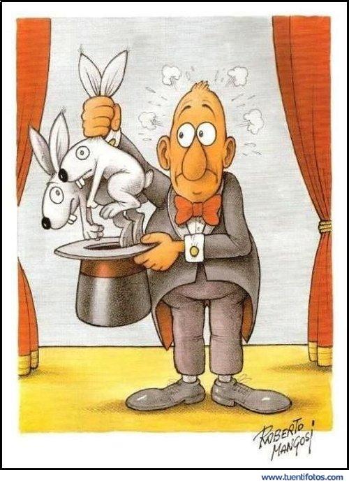 Dibujos de Mago Con Conejos Empalmados