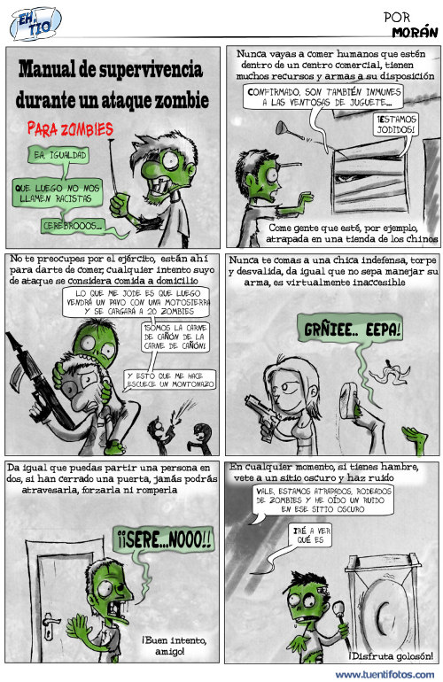 Chistes de Manual  Supervivencia para Zombies