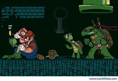Chistes de Mario Bros Y La Tortuga Ninja