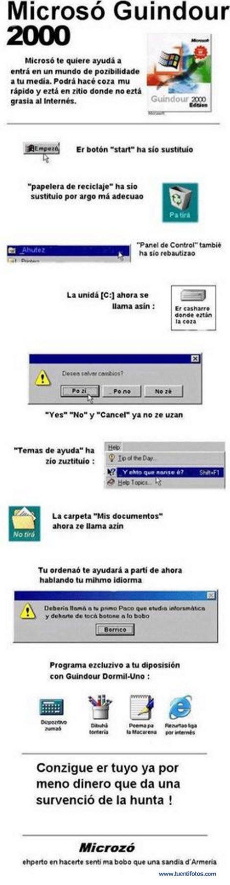 Textos de Microso Guindour 2000 Andaluz
