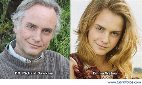 Parecidos de Richard Dawkins Emma Watson