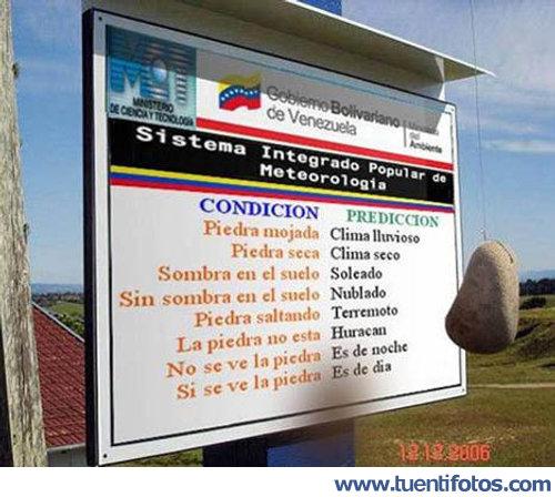 Chistes de Sistema De Meteorología