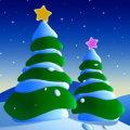 Miniatura de Arboles Nevados En Navidad