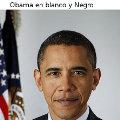 Miniatura de Obama En Blanco Y Negro