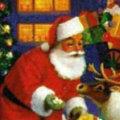 Miniatura de Papa Noel Alimenta A Rudolf