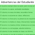 Miniatura de Advertencias Del Estudiante