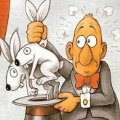 Miniatura de Mago Con Conejos Empalmados
