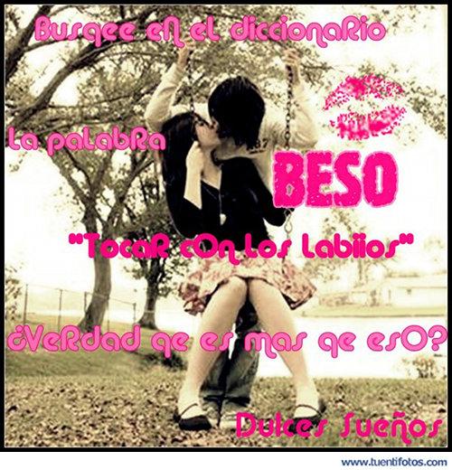 Románticas de Beso En El Diccionario