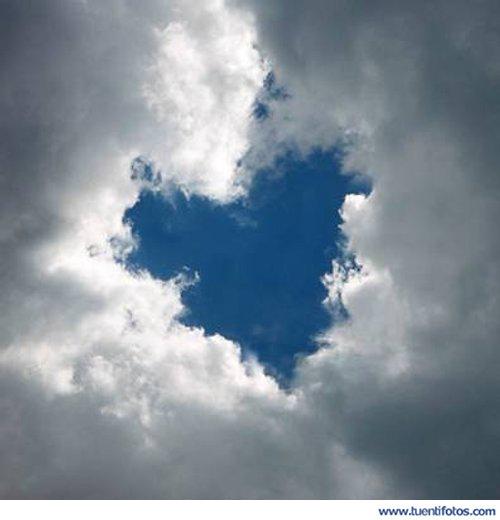 Románticas de Corazón En Forma De Nube