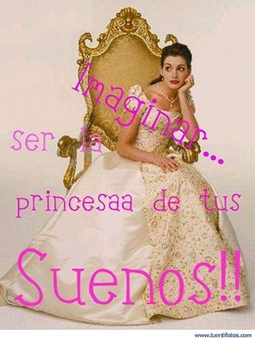 Frases de Ser La Princesa De Tus Sueños