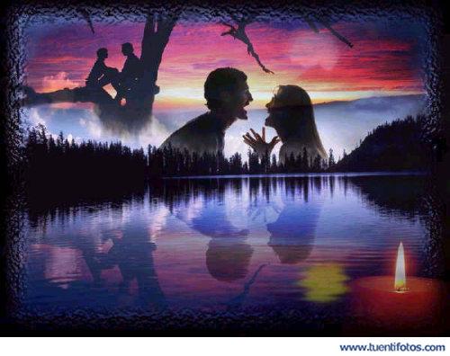 Románticas de Juntos En El Lago