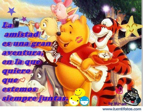 Amistad de Winnie The Pooh Y Amigos